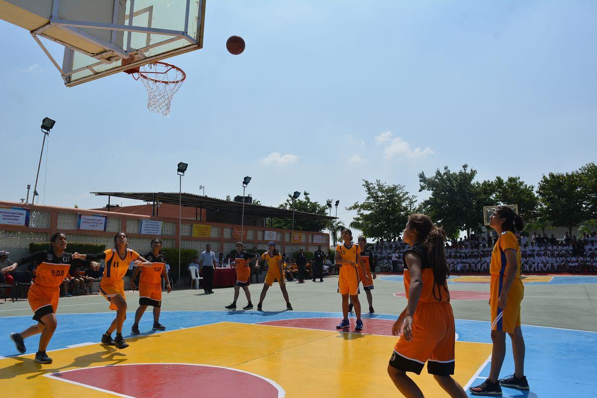 Bhopal: Inter DPS Basketball Tourney: Quarter final matches played