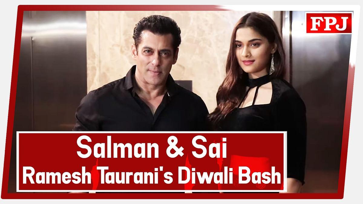 Dabangg 3: Salman Khan And Sai Manjrekar At Ramesh Taurani's Diwali Bash 2019