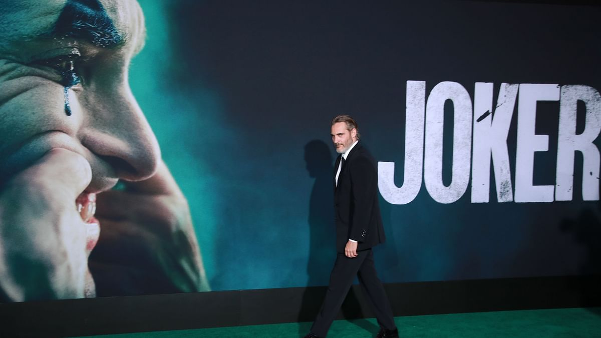 "Joaquin Phoenix attends the premiere of Warner Bros Pictures ""Joker"" in Hollywood, California."