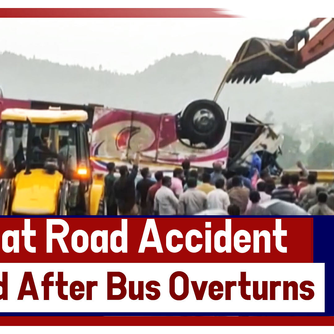 Road Accident - 21 Dead After Bus Overturns In Gujarat's Banaskantha