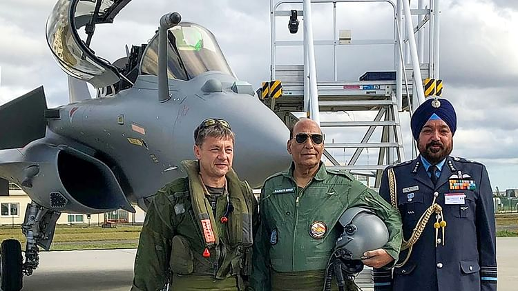 Defence Minister Rajnath Singh prepares for a sortie in a Rafale Jet in Merignac, near Bordeaux, France.