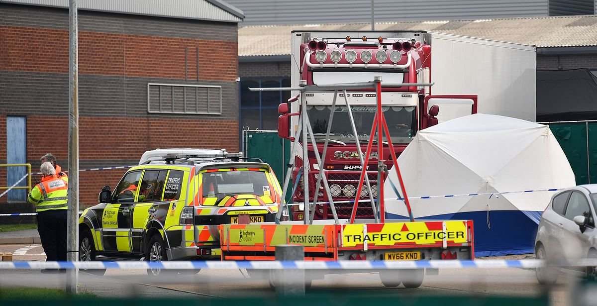 Britain tries to identify 39 bodies found in truck