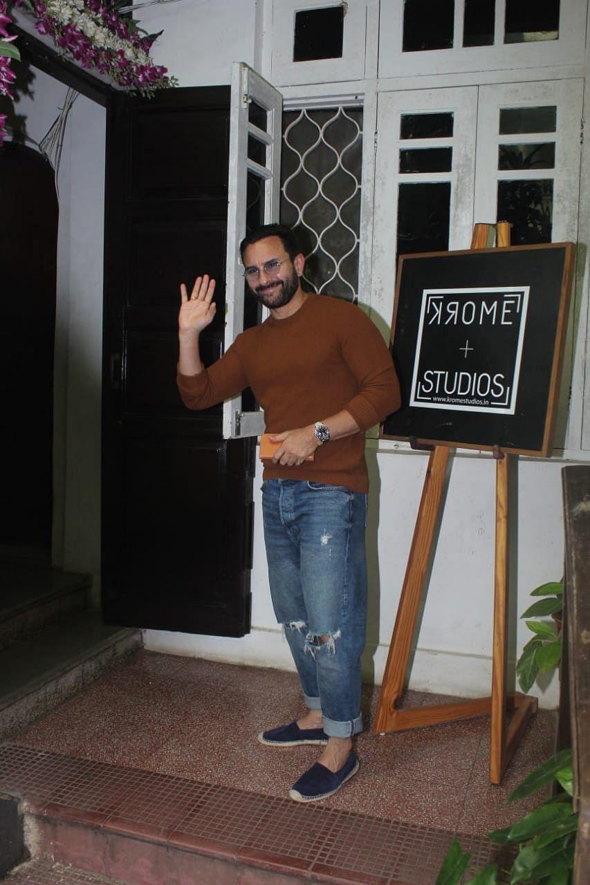 Saif Ali khan spotted at krome studio
