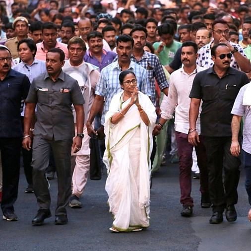 Mamata Banerjee walks 10 km for creating awareness on environment conservation