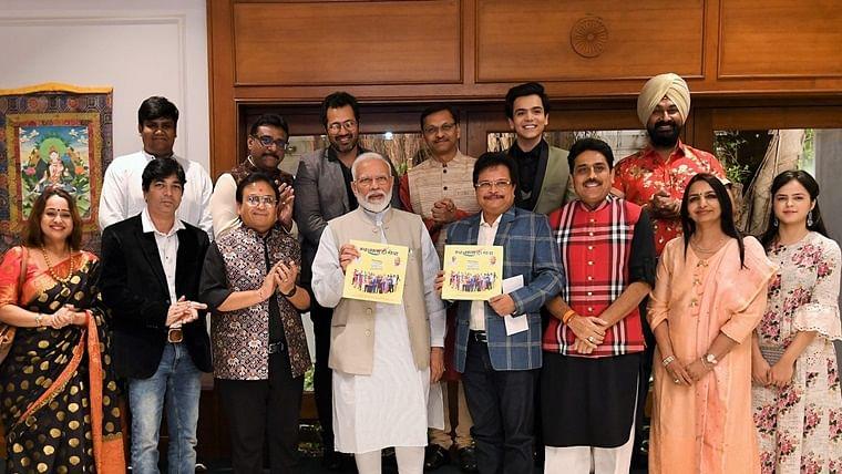 Two Gujju icons meet as PM Modi releases 'Tarak Mehta Ka Oolta Chasma' coffee table book