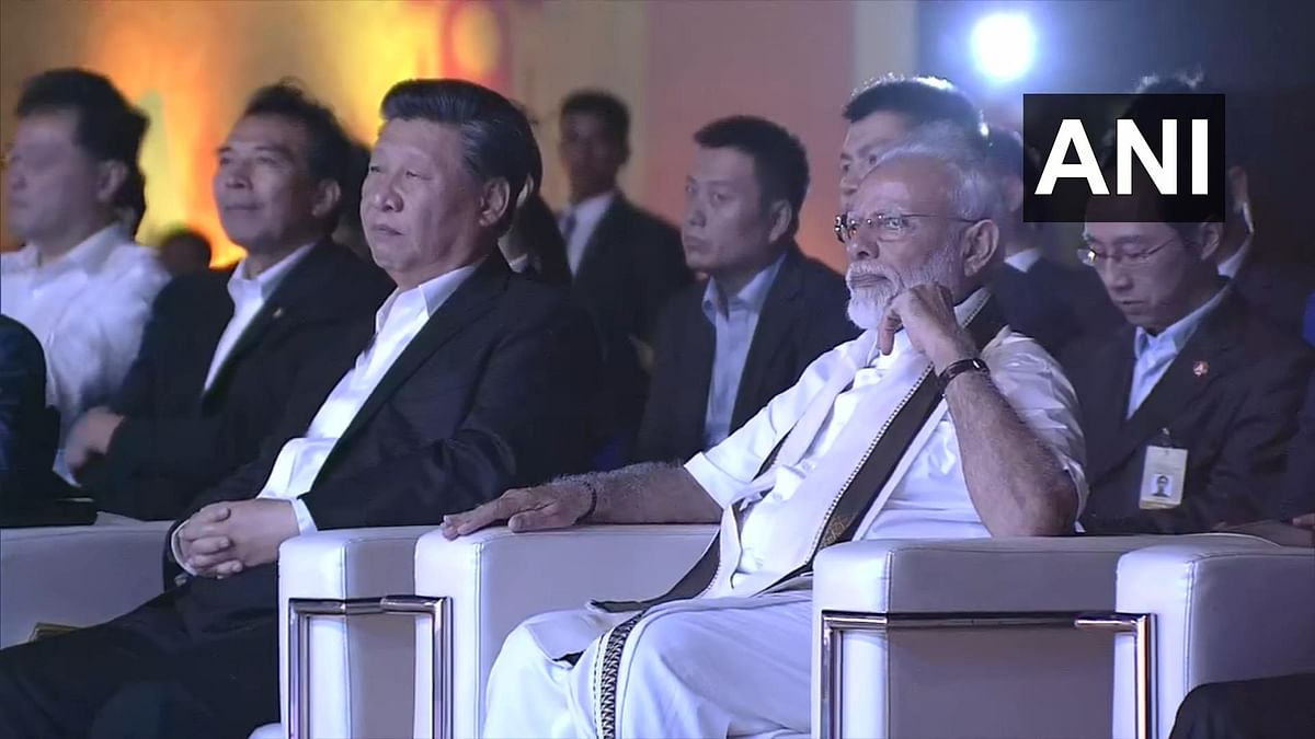 PM Narendra Modi and President Xi Jinping attend cultural program at the Shore Temple