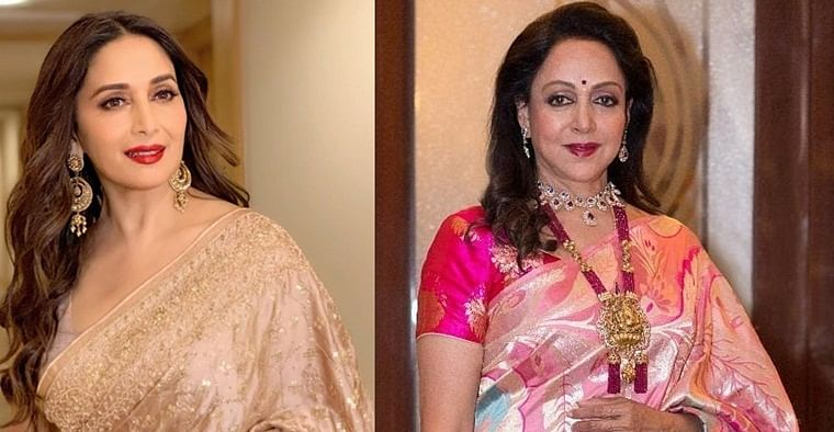 'Dhak-Dhak' girl Madhuri Dixit wishes 'Dream girl' Hema Malini on 71st birthday
