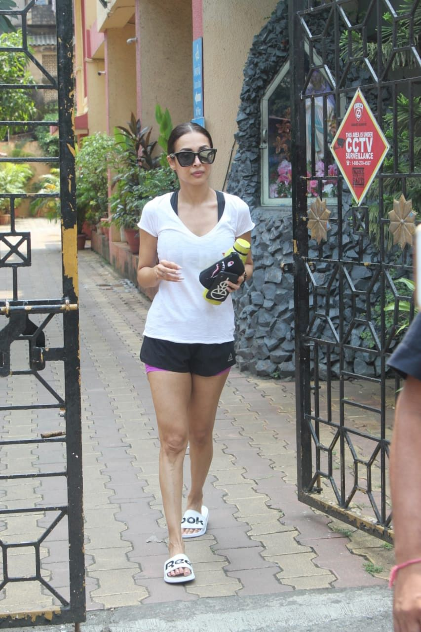 Amrita Arora after her Yoga sessions.