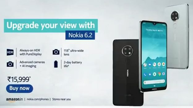 Nokia 6.2 with triple rear cameras launched in India
