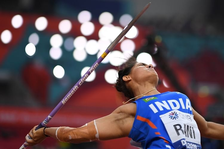 India's Annu Rani competes in the Women's Javelin Throw heats at the 2019 IAAF Athletics World Championships at the Khalifa International Stadium in Doha.