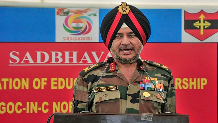 Army helicopter carrying Northern Command chief Lt Gen Ranbir Singh force lands in Poonch