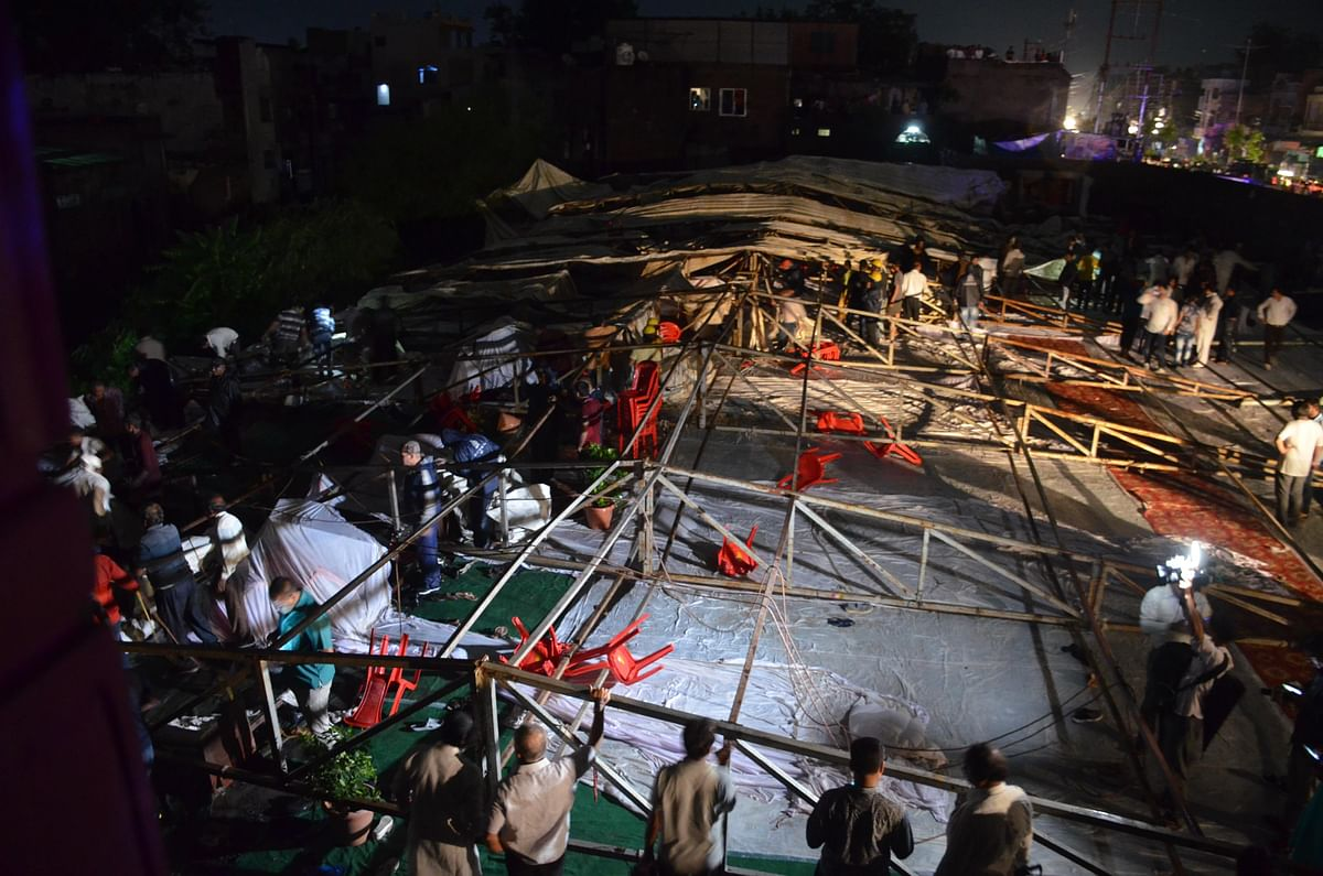 Indore: One killed, 21 injured as dome collapses