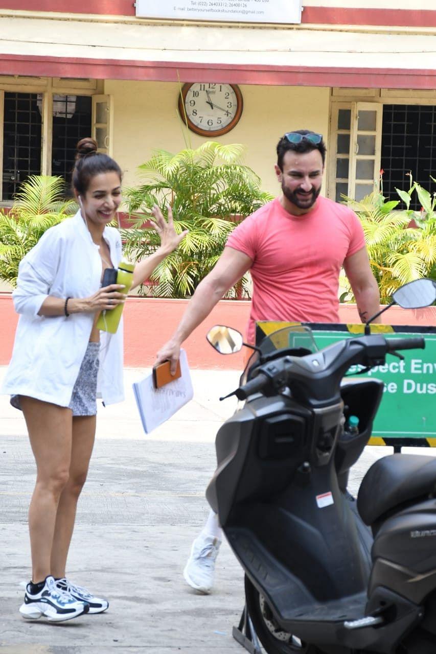 Malaika Arora met Saif Ali Khan at i think fitness