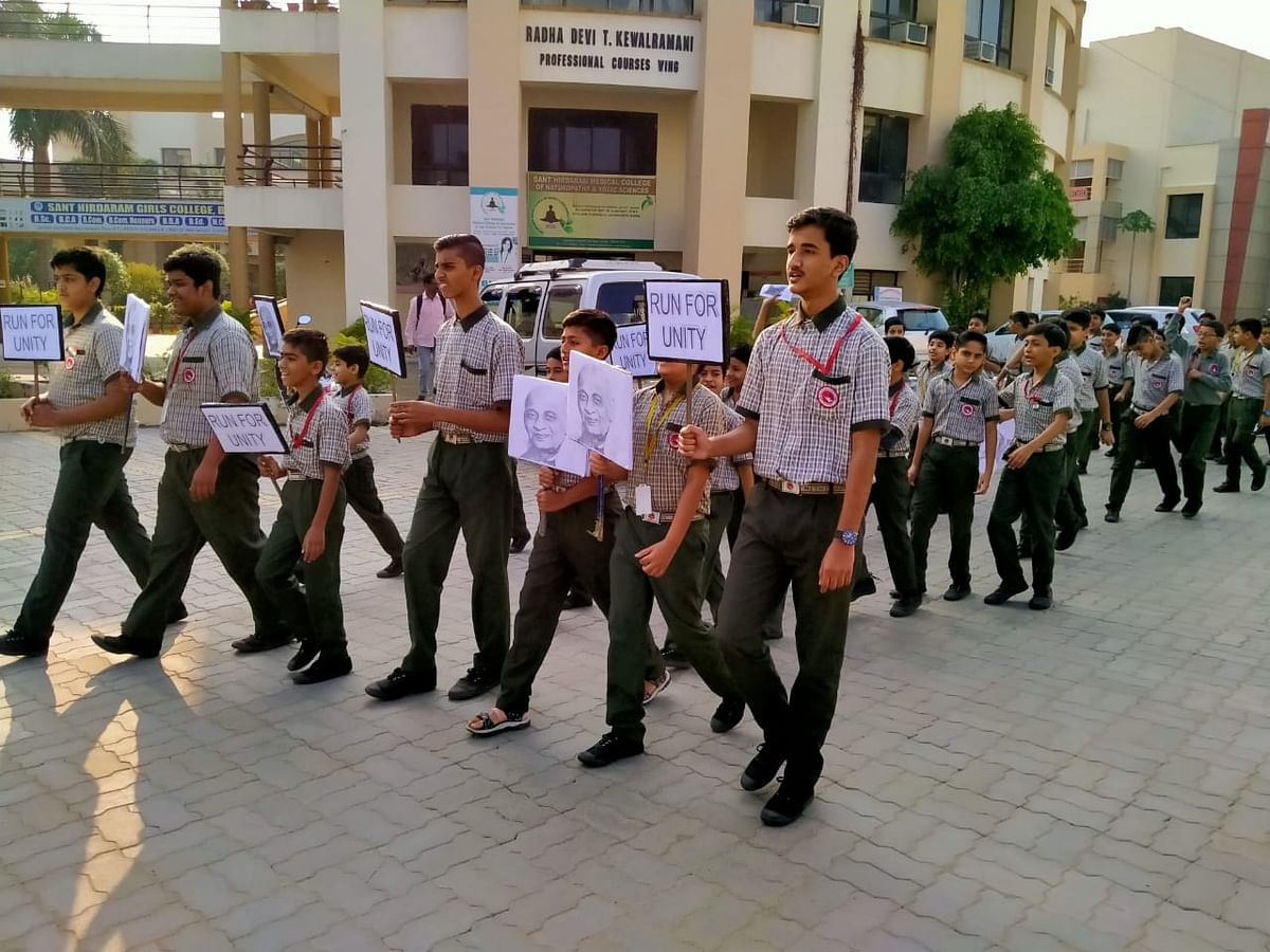 Bhopal: Students of MGPS 'Run for unity'
