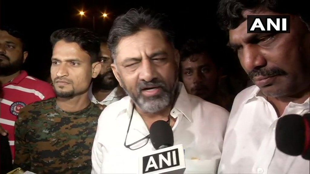 DK Shivakumar gets a hero's welcome in Bengaluru
