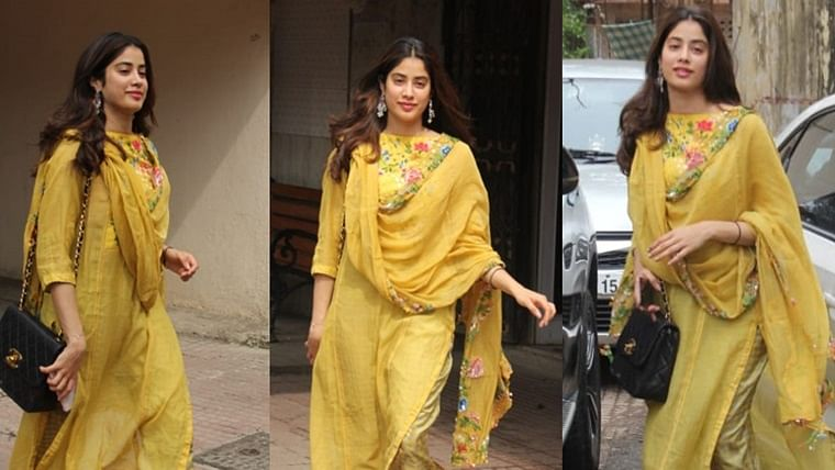 Oops! Janhvi Kapoor spotted wearing dupatta with price tag on