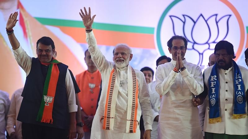 Shiv Sena-BJP grand rally at BKC on Friday, Uddhav Thackeray backed BJP's manifesto