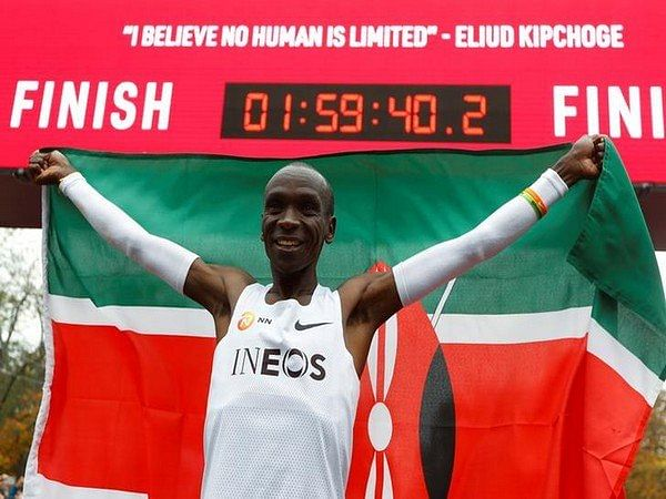 Eliud Kiipchoge just ran a sub two-hour marathon, but it's not going to be counted