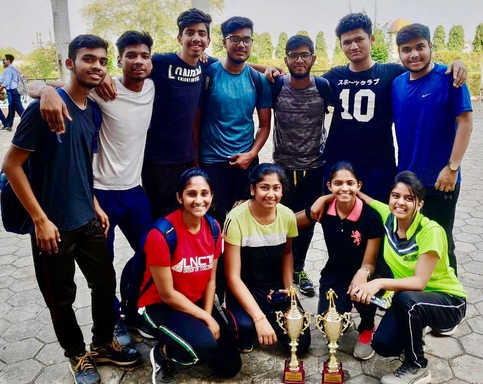 Bhopal: LNCT boys' and girls' win Nodal level TT C'ship
