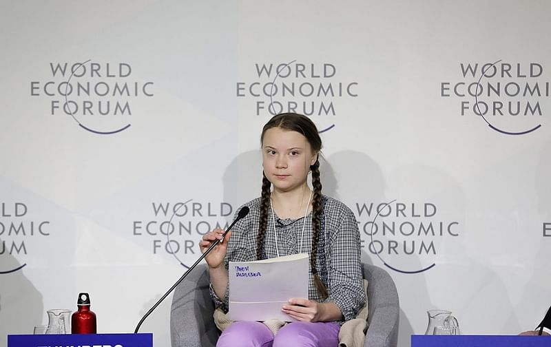 """We cannot solve a crisis without treating it as a crisis. And if solutions  within the  system are so impossible to find, then maybe we should change the  system itself."" — Greta Thunberg"