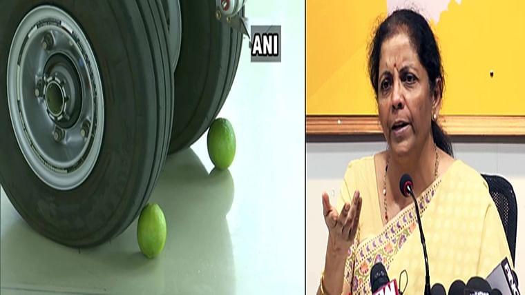 """Lemons to protect Rafale"" part of Indian culture, Nirmala Sitharaman defends Rajnath Singh"