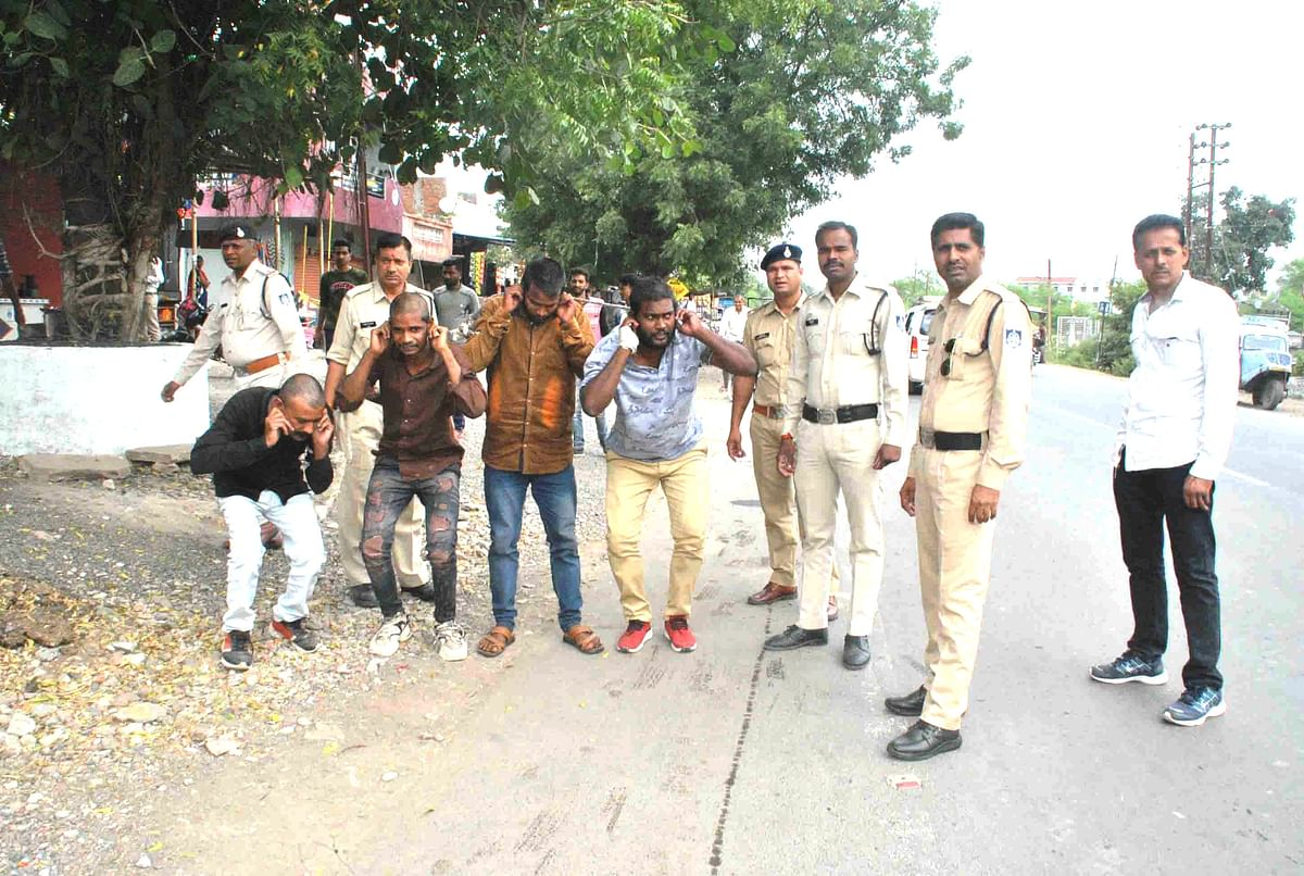 Ujjain: Goons paraded by police