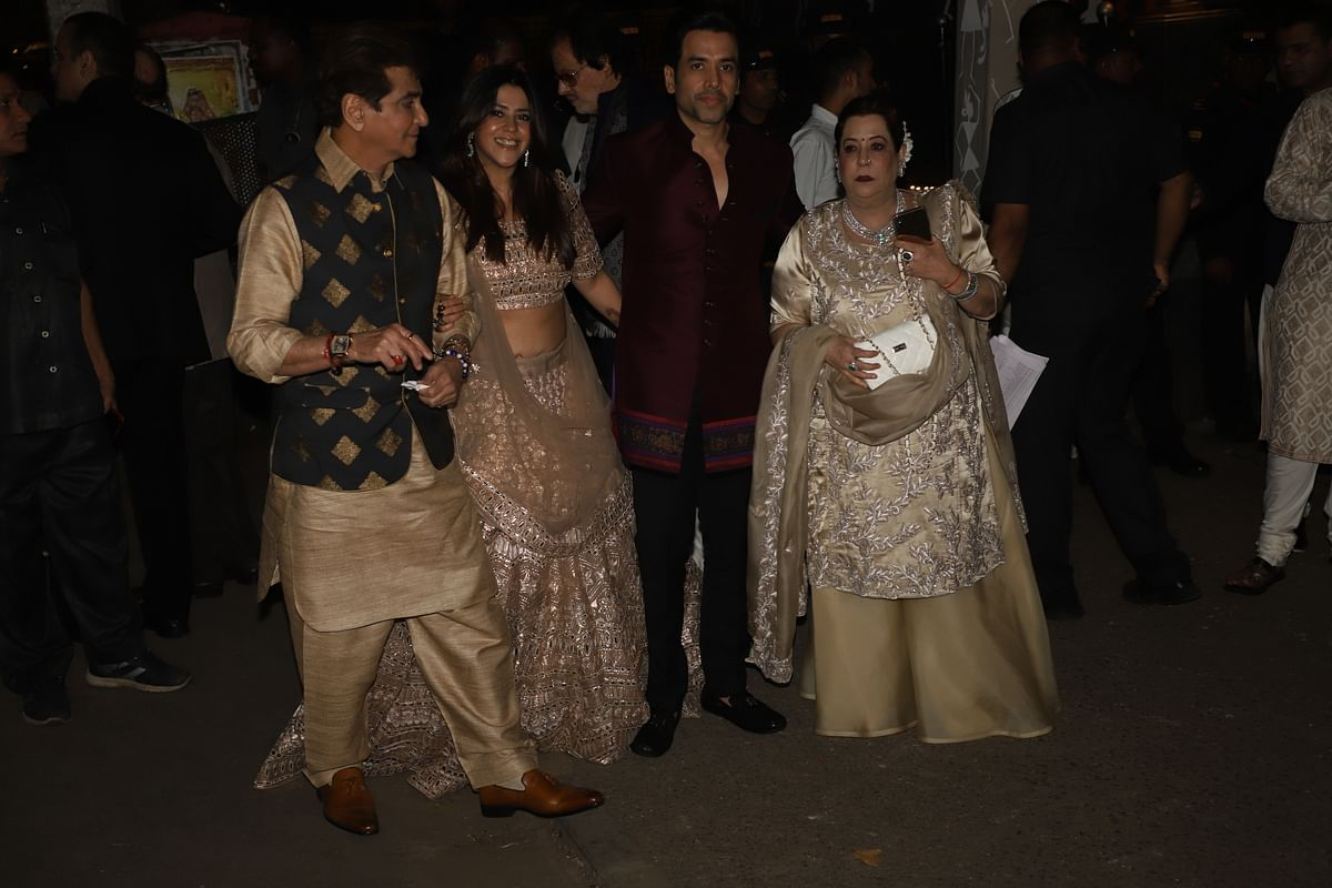 Jeetendra, Ekta Kapoor, Tusshar Kapoor and Shobha Kapoor