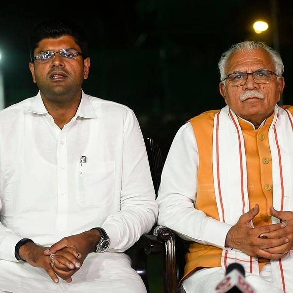 Manohar Lal Khattar, Dushyant Chautala takes oath, rest wait