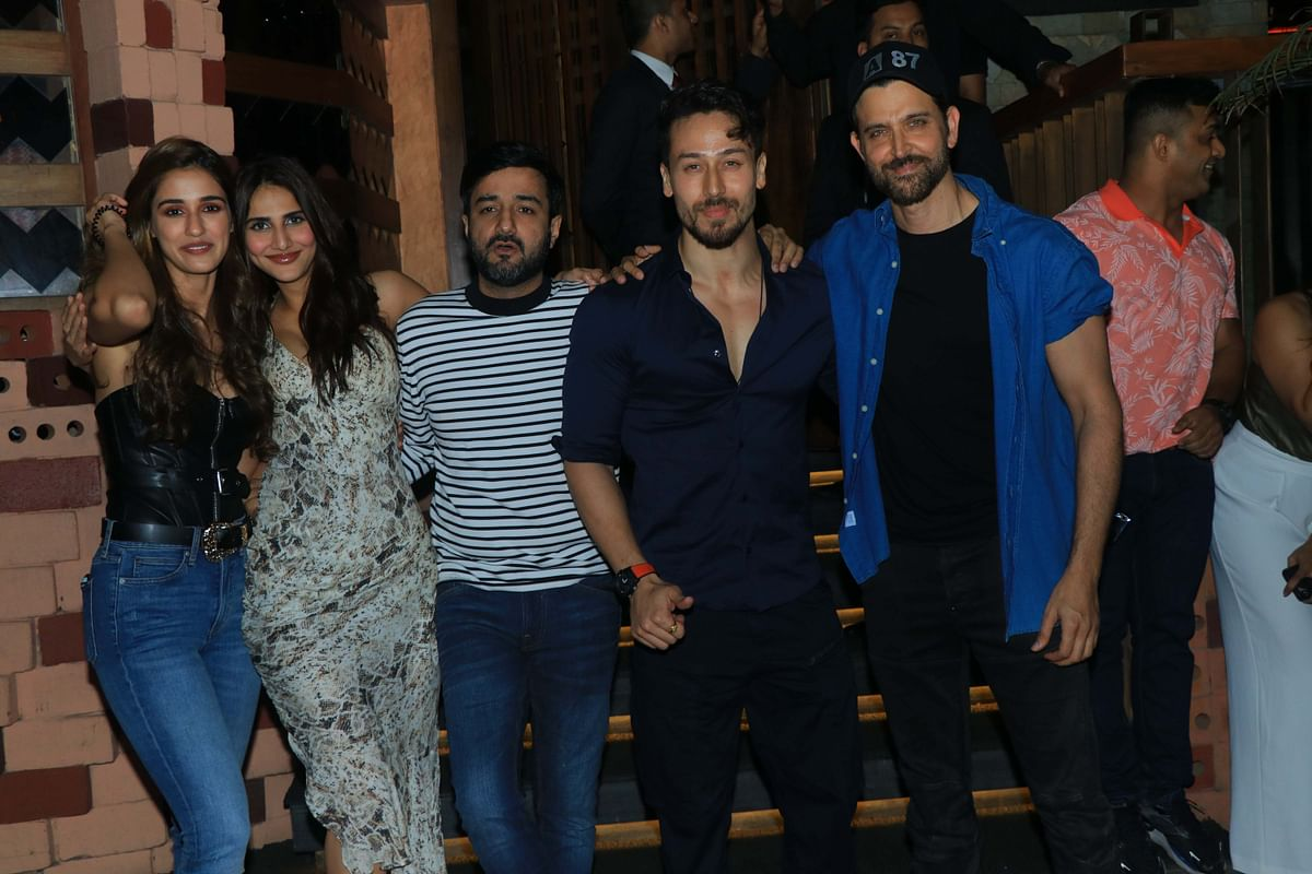 Hrithik Roshan, Tiger Shroff celebrate 'War' success with grand bash