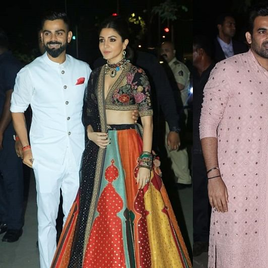Virat-Anushka, Zaheer-Sagarika, and other cricketers at Bachchans' Diwali bash