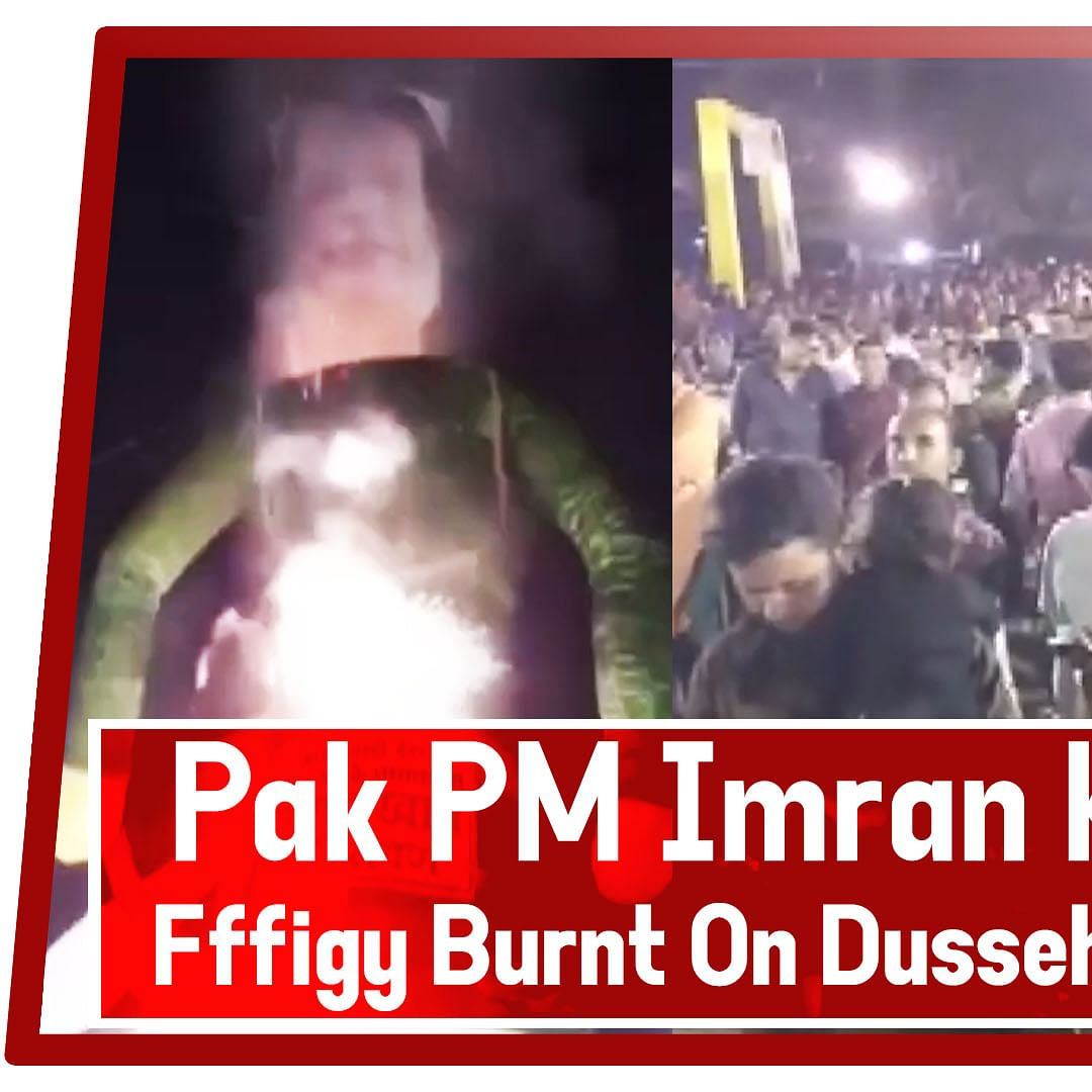 Pakistan PM Imran Khan's effigy burnt on Dussehra in MP's Khargone
