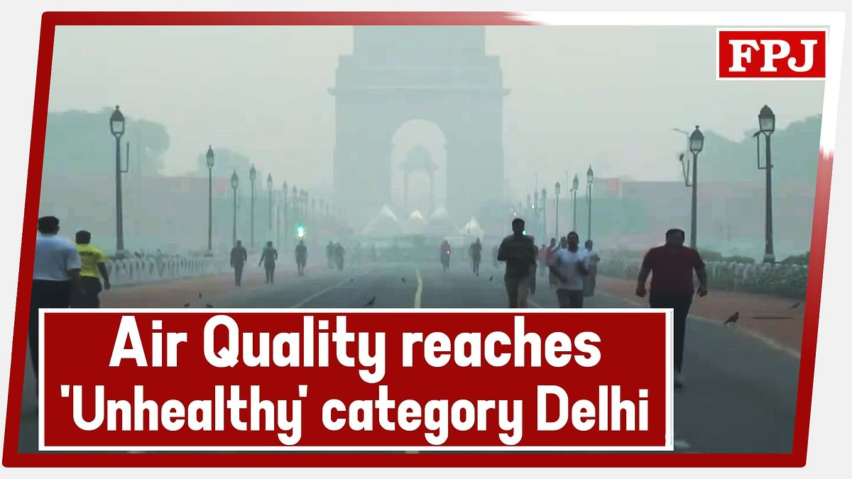 Watch: Air Quality reaches 'Unhealthy' category in Delhi