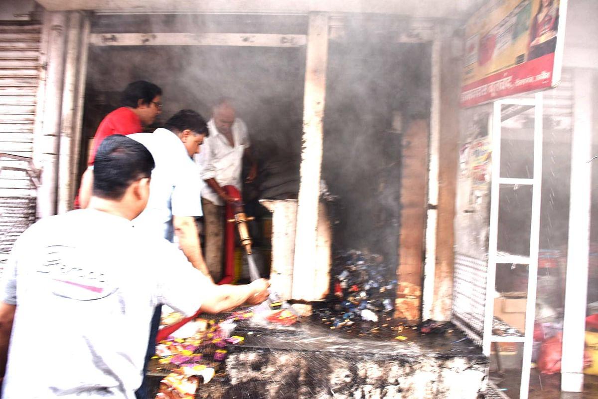Ujjain: Fire erupts in grocery shop