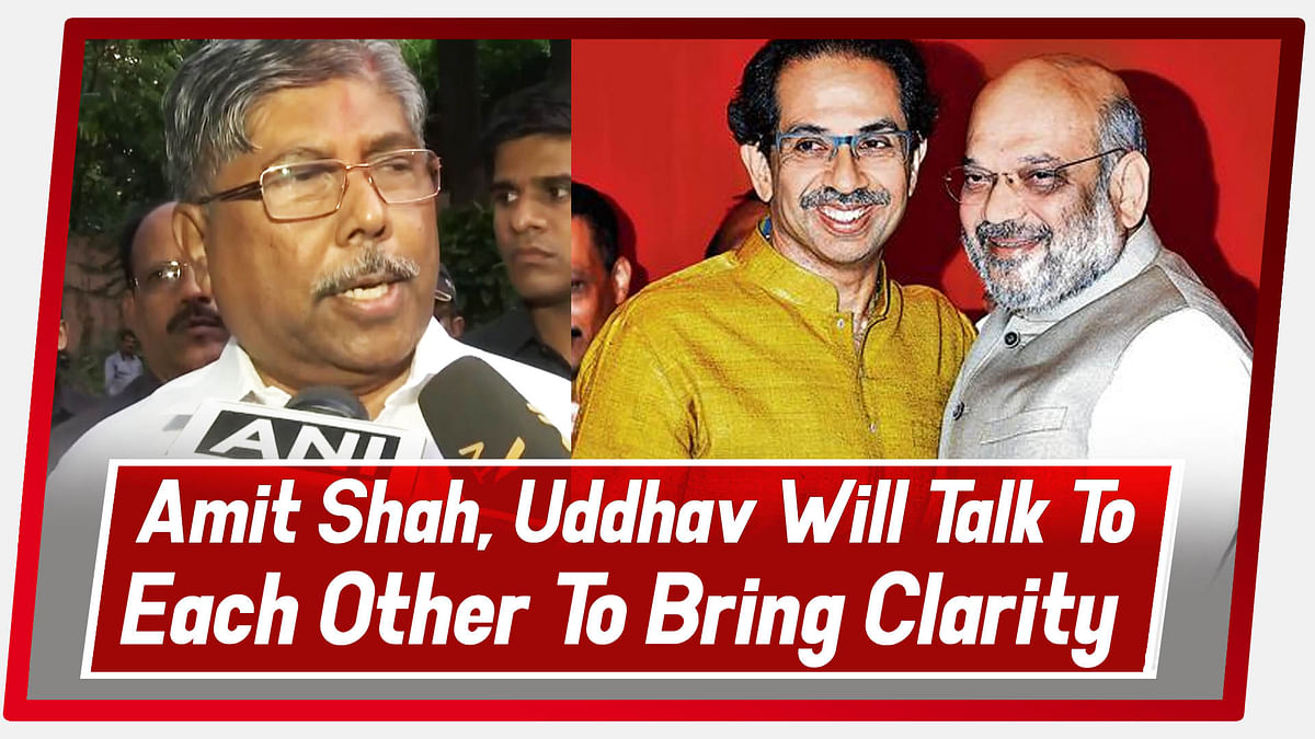 Amit Shah, Uddhav Will Talk To Each Other To Bring Clarity: Maharashtra BJP Chief Chandrakant Patil