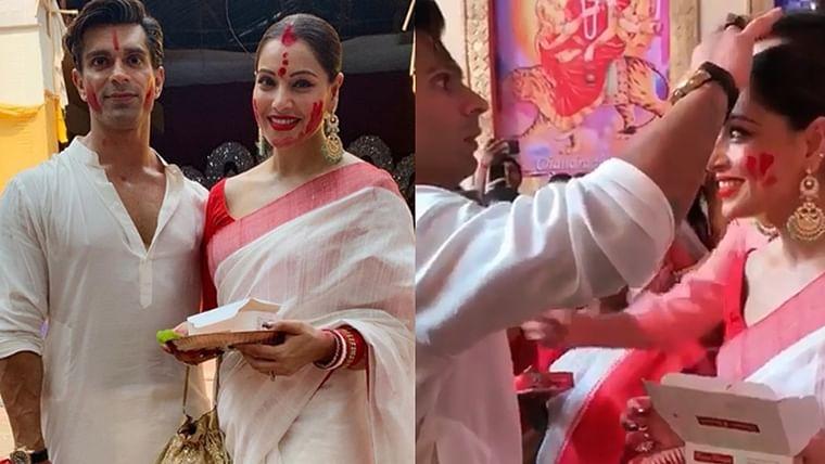 Bipasha Basu shares moments from first 'Sindur Khela' after marriage