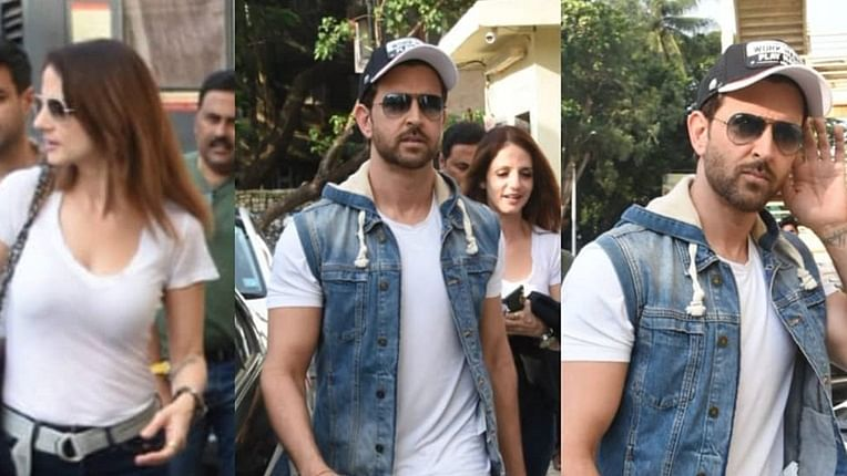 Hrithik Roshan spotted with ex-wife Sussanne Khan after movie date, see pics