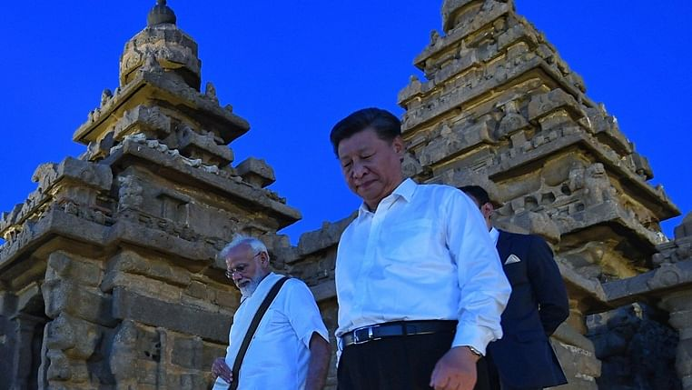 (From left) Prime Minister Narendra Modi and  Chinese President Xi Jinping