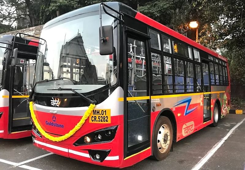 BEST e-bus afire in Mulund; none hurt