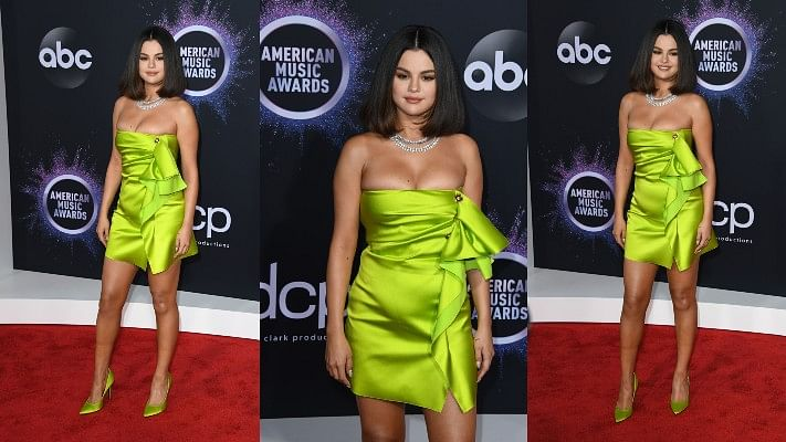 AMAs 2019: Selena Gomez makes a radiant red carpet comeback in fluorescent green outfit!