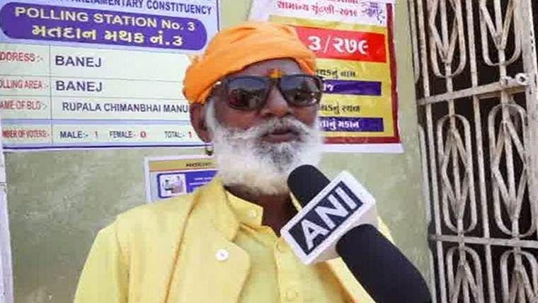 Mahant Bapu, only voter from Gujarat's Gir Somnath district, dies in Rajkot.