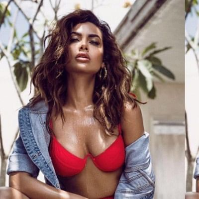 Esha Gupta's 'wet n wild' look in red bikini will make you thirsty!