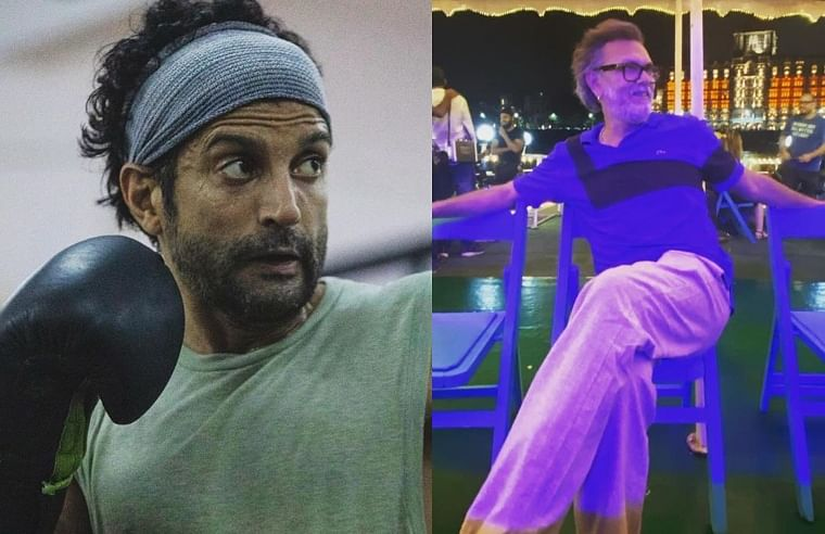 Farhan Akhtar shares another BTS picture from the sets of 'Toofan'