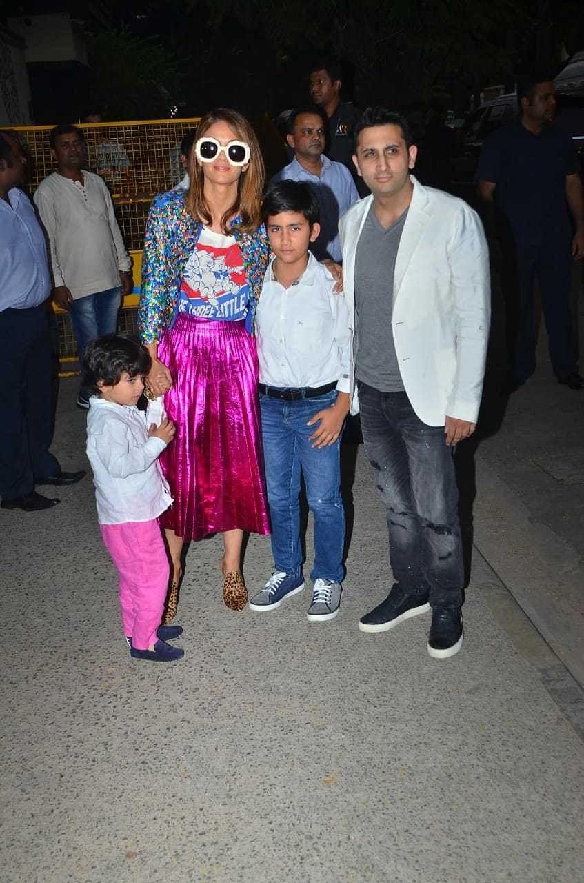 Natasha Poonawalla with Family