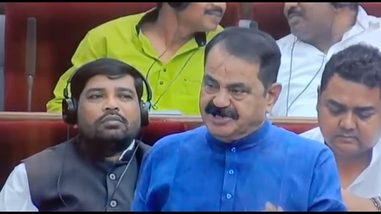 Congress MLA Taraprasad Bahinipati blows a flying kiss to speaker, has everyone smiling