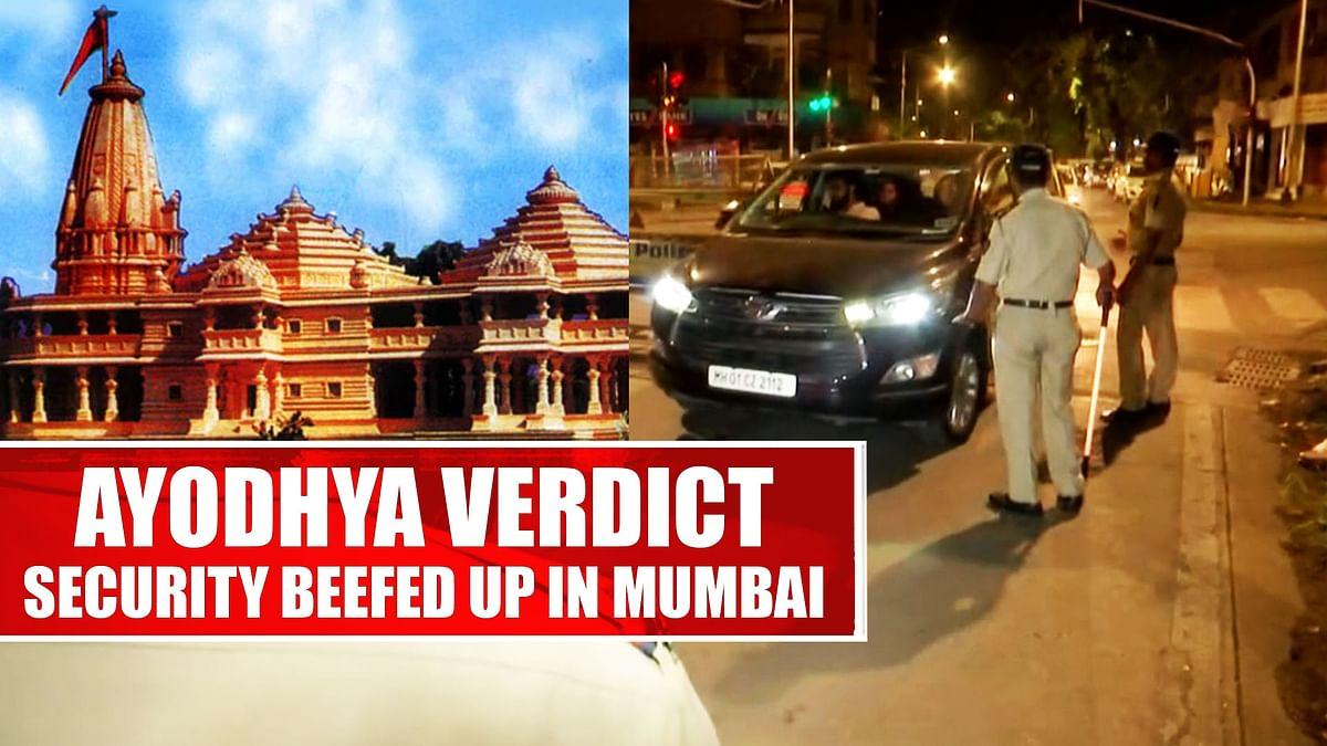 Ayodhya Verdict: Security Beefed Up In Mumbai