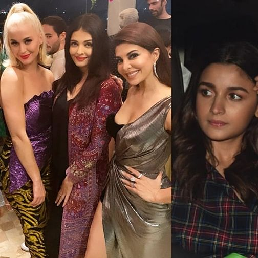 Katy Perry gets a royal welcome by Aishwarya, Anushka, Alia and other celebs at Karan Johar's party