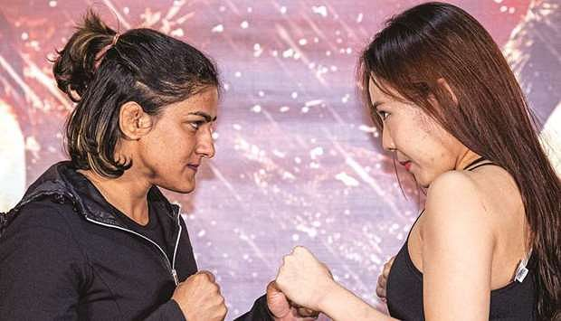Watch: Ritu Phogat starts MMA career with a bang, wins in 3 minutes