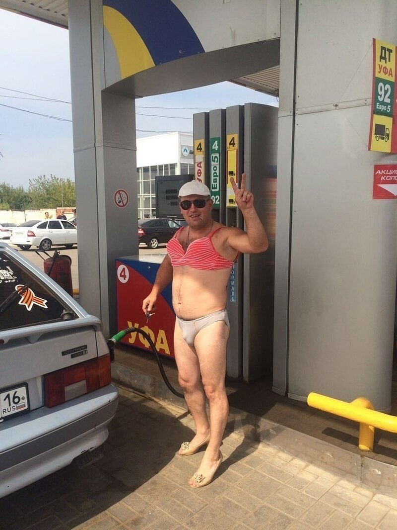 A Russian petrol pump offered free fuel to people wearing bikini and it didn't go well