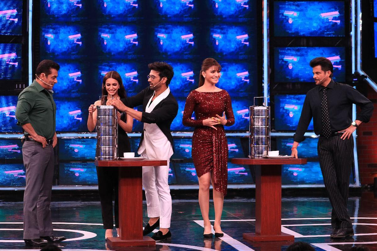 Paagalpanti cast with Salman Khan on the sets of Bigg Boss 13