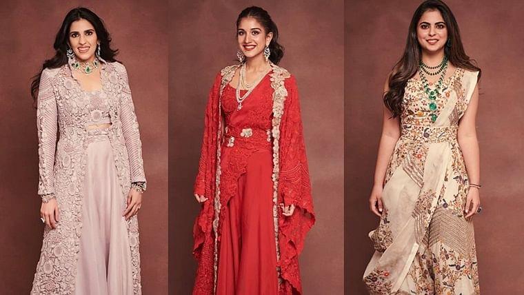 Bonded for life: Shloka, Radhika, Isha  show solidarity as they twin in ethnic outfits for Ambani bash